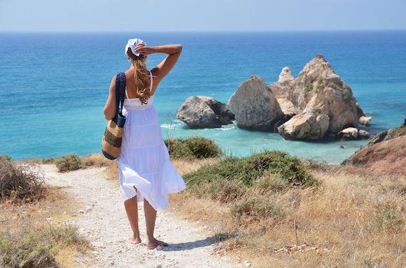 Пляж в августе на Кипре