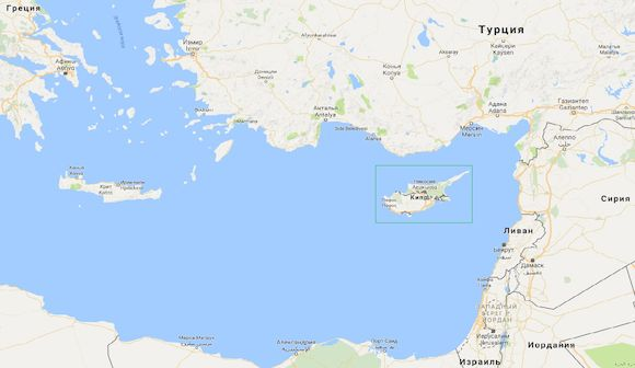 Остров Кипр на карте