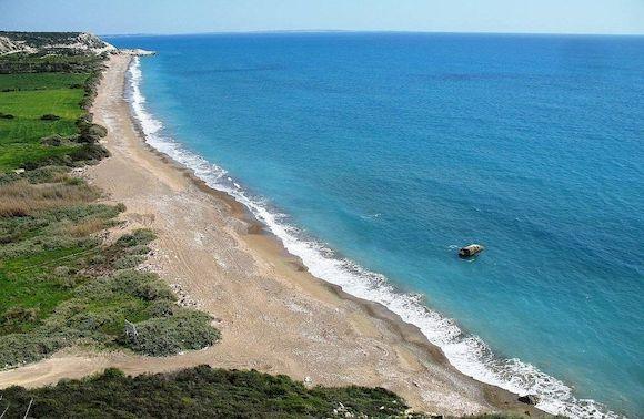 Paramali Beach, пляж с белым песком, Кипр