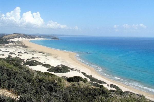 Голден Бич, один из лучших пляжей Айя Напы, Кипр